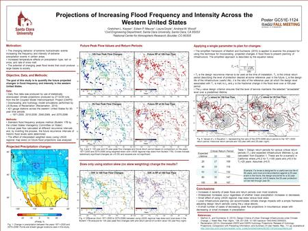 Projections of Increasing Flood Frequency and Intensity Across the Western United States Objective, Data, and Methods: The goal of this study is to quantify.