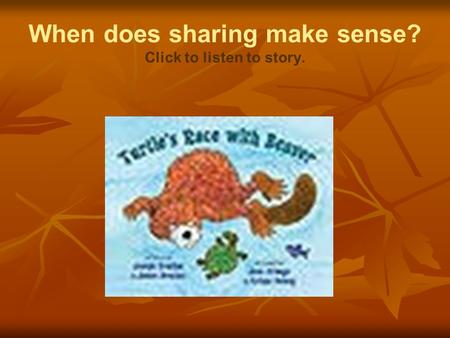 When does sharing make sense? Click to listen to story.