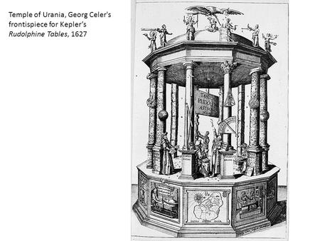 Temple of Urania, Georg Celer's frontispiece for Kepler's Rudolphine Tables, 1627.