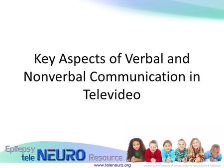 Key Aspects of Verbal and Nonverbal Communication in Televideo.