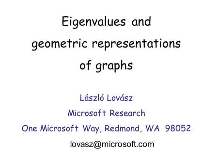 geometric representations of graphs