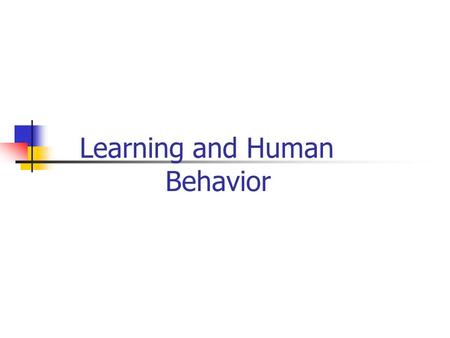 "Learning and Human Behavior. 6-10-2009 ""Learning"" Instructor: Saba Nasir 2 What is learning? The process by which an experience or practice results in."