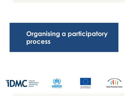 1 Organising a participatory process. 2 Objectives  To understand how to organise an inclusive and consultative law or policy- making process  To learn.