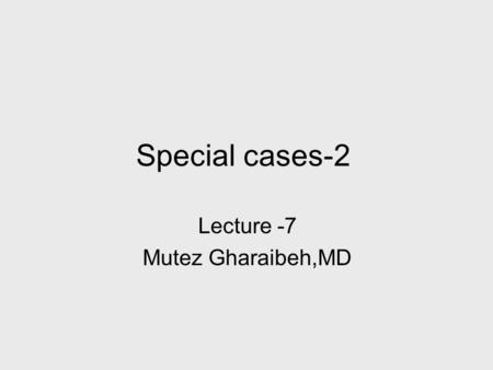 Special cases-2 Lecture -7 Mutez Gharaibeh,MD. Colour deficiencies Cones are of three types : 1- Max sensitivity to red 2- Max sensitivity to green 3-