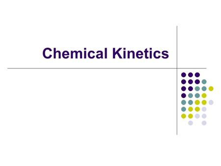 Chemical Kinetics. Collision Theory of Reactions Collision theory is simple - for a reaction to occur, particles must collide successfully! A successful.