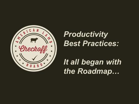 Productivity Best Practices: It all began with the Roadmap…