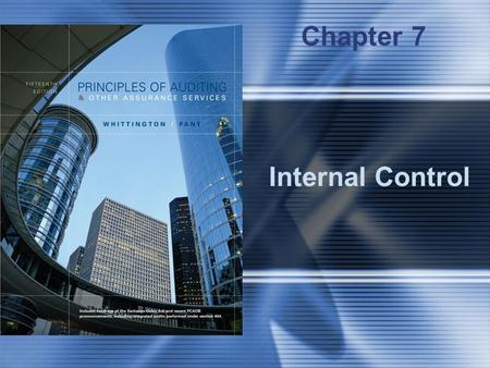 Internal Control Chapter 7. McGraw-Hill/Irwin © 2006 The McGraw-Hill Companies, Inc., All Rights Reserved. 7-2 Summary of Internal Control Definition.
