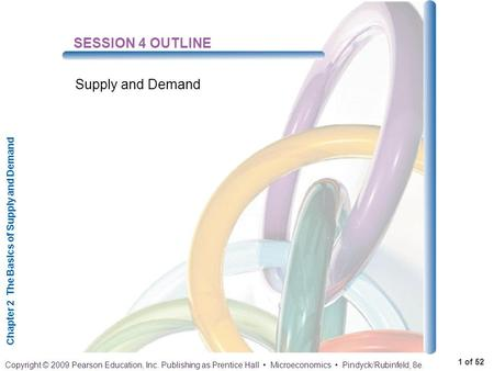 Chapter 2 The Basics of Supply and Demand 1 of 52 Copyright © 2009 Pearson Education, Inc. Publishing as Prentice Hall Microeconomics Pindyck/Rubinfeld,