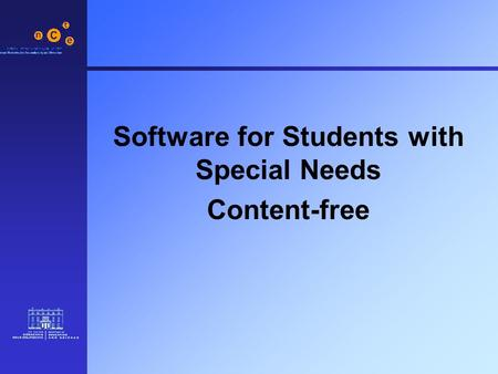 Software for Students with Special Needs Content-free.