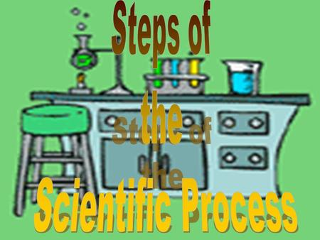 The Scientific Process involves a series of steps that are used to investigate a natural occurrence.