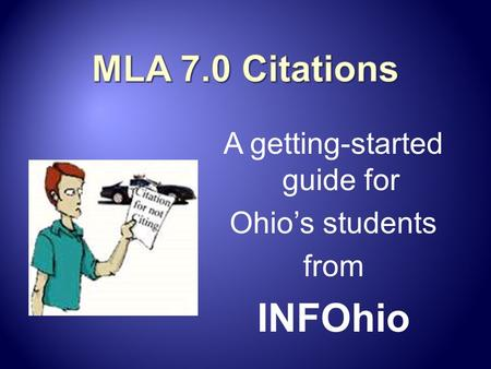 A getting-started guide for Ohio's students from INFOhio.