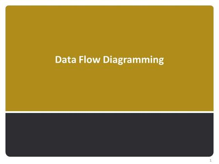 Data Flow Diagramming 1. Used to represent processes that:  … capture, manipulate, store, & distribute data  … between a system & its environment 