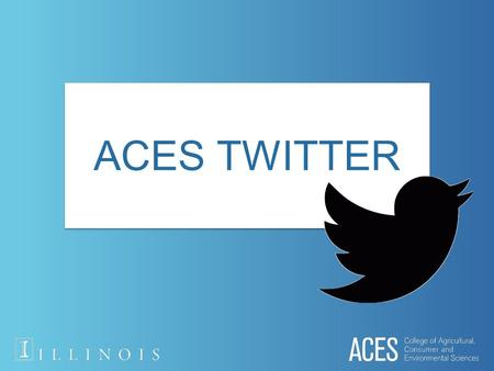 ACES TWITTER. What is a tweet? 140 character social media posting on Twitter.