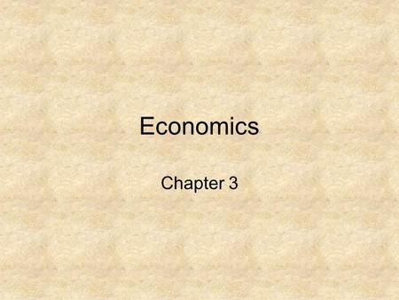 Economics Chapter 3. Economy Organized way a nation provides for the needs and wants of its people. –Resources – all the things used in producing goods.