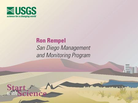 Landscape Conservation- Science Policy and Adaptive Management A Bold Approach Ronald D. Rempel.