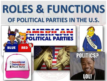 of Political Parties in the u.s.