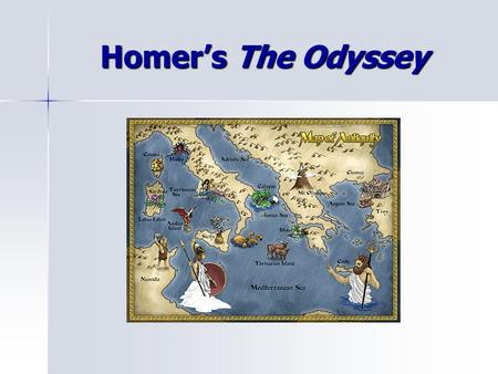 Homer's The Odyssey. Characteristics of the Epic An Epic is told in the form of a long narrative poem. An Epic is told in the form of a long narrative.
