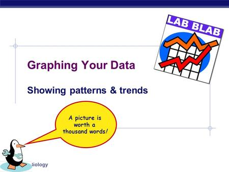 Regents Biology Graphing Your Data Showing patterns & trends A picture is worth a thousand words!