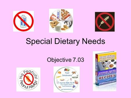 Dietary Restrictions, Food Allergies and Religious Restrictions