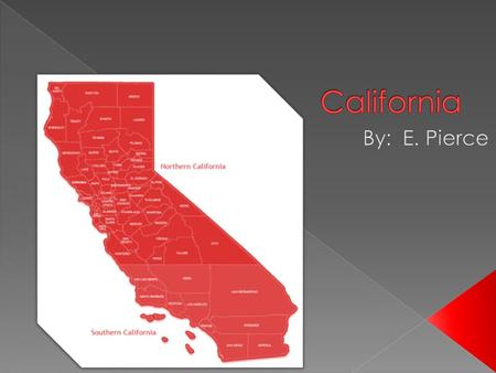  California is located in the Southwest part of the United States.  California is ranked the 3 rd largest state, with a total area of 163,696 square.