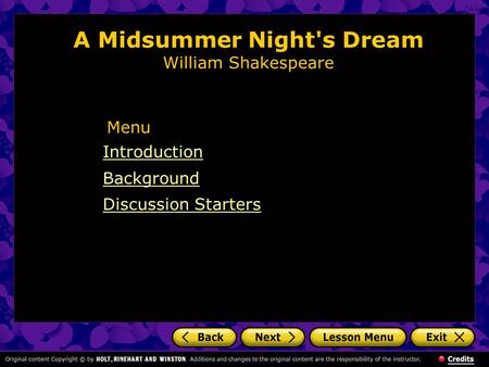 Cliffsnotes on Shakespeare's a Midsummer Night's Dream