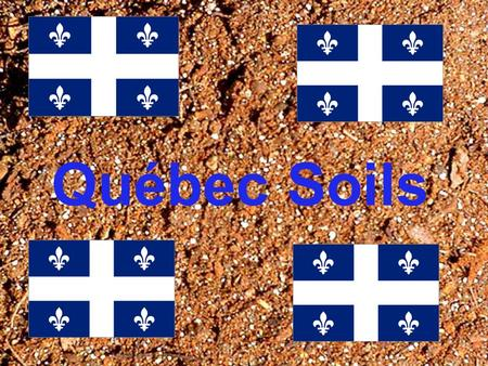 Québec Soils. Wet-Climate Soils Around 80% of Quebec's soil is Wet- Climate. Wet-Climate Soil is just as it sounds: Soil in a wet climate. In this area,
