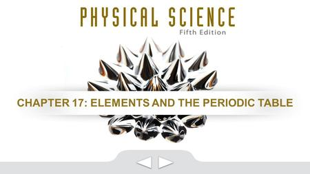 CHAPTER 17: ELEMENTS AND THE PERIODIC TABLE. CLASSES OF ELEMENTS.