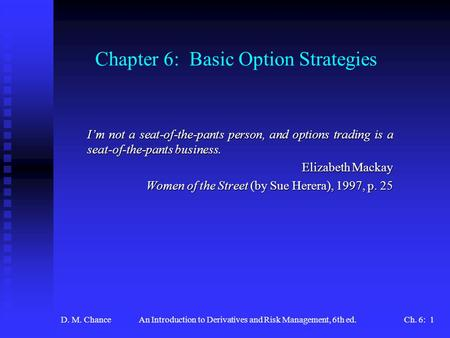 Options risk management strategies