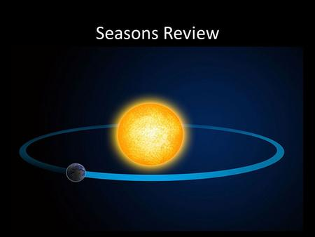 Seasons Review. Why Do We Have Seasons? We have seasons because the earth is tilted (wonky) as it makes its yearly journey around the sun.