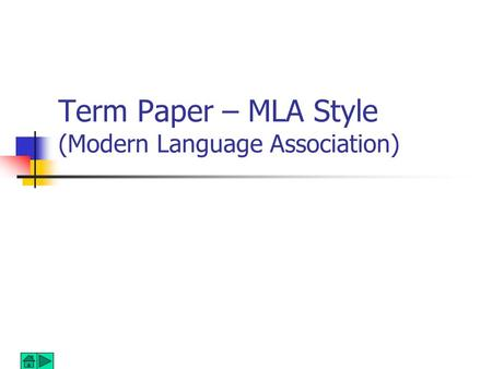 modern language association mla style for research papers