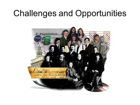 Challenges and Opportunities. Common Pedigree Research Issues Record Linkage Data Standardization Efficient Data Access Expert Finding.