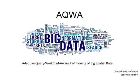 AQWA Adaptive Query-Workload-Aware Partitioning of Big Spatial Data Dimosthenis Stefanidis Stelios Nikolaou.