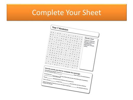 Complete Your Sheet. Which keywords from the sheet did you remember easily? Which keywords from the sheet are you not sure about? Think, Pair, Share Keyword.
