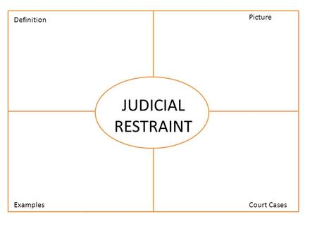 JUDICIAL RESTRAINT Definition Examples Picture Court Cases.