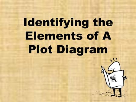 Identifying the Elements of A Plot Diagram. Plot (definition) ● Plot is the organized pattern or sequence of events that make up a story. Every plot is.