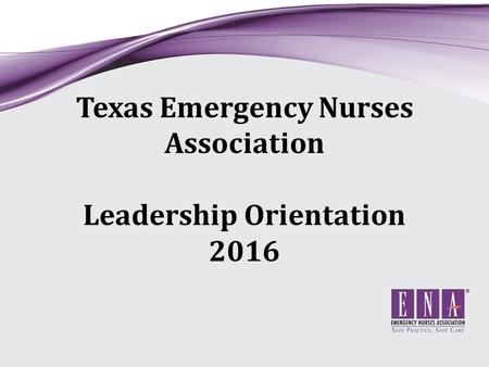 Texas Emergency Nurses Association Leadership Orientation 2016.