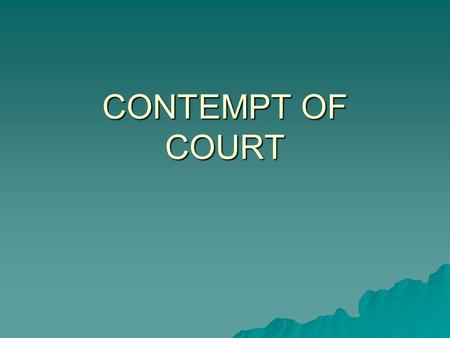 contempt of court act 1981 pdf