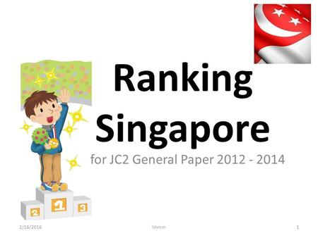 Ranking Singapore for JC2 General Paper 2012 - 2014 27/4/2017 hhmm.