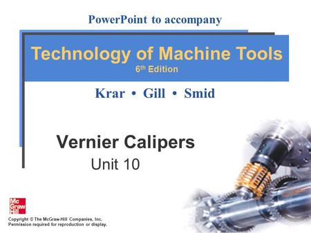 Vernier Calipers Unit 10.