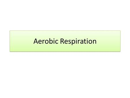 Aerobic Respiration. In summary, aerobic respiration is: Glycolysis – the phosphorylation of glucose to 6C hexose phosphate, then splitting into 2 x 3C.