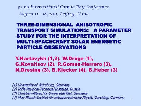 THREE-DIMENSIONAL ANISOTROPIC TRANSPORT SIMULATIONS: A PARAMETER STUDY FOR THE INTERPRETATION OF MULTI-SPACECRAFT SOLAR ENERGETIC PARTICLE OBSERVATIONS.