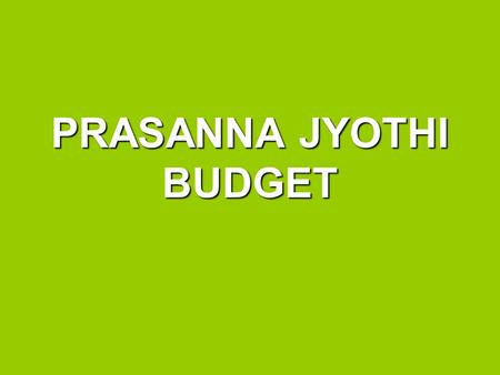 PRASANNA JYOTHI BUDGET. ASHA funding (US$20** x 20 kids x 12months) = US$ 4, 800 ~ Rps. 189, 552 75% of this funding goes towards education expenses.