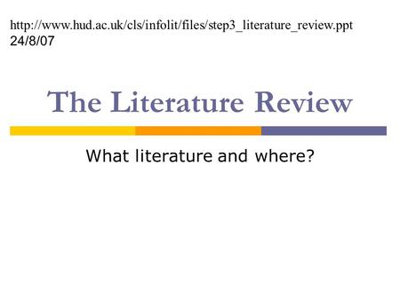 How to present literature review in powerpoint presentation   Google Docs SlideShare