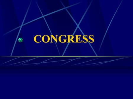 CONGRESS. The Constitution and the Legislative Branch of Government Article I creates a bicameral legislative branch of government. The upper house is.