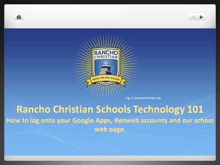 Fig. 1 ranchochristian.org. Click Below Hello From your instructional IT.