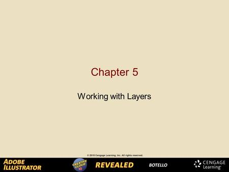 Chapter 5 Working with Layers. Creating and Modifying Layers Layers are a smart solution for organizing and managing a complex illustration. By default,