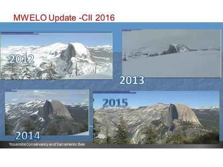 MWELO Update -CII 2016. ??? April 1 2015- Snow Survey-No Snow.
