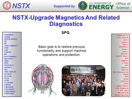 NSTX-Upgrade Magnetics And Related Diagnostics SPG NSTX Supported by Culham Sci Ctr U St. Andrews York U Chubu U Fukui U Hiroshima U Hyogo U Kyoto U Kyushu.