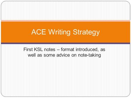 ace strategy powerpoint