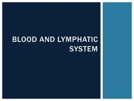 BLOOD AND LYMPHATIC SYSTEM.  Review 33.2 Worksheet DO NOW.